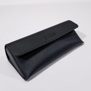 Guess Soft Leather-Like Black Glasses Case